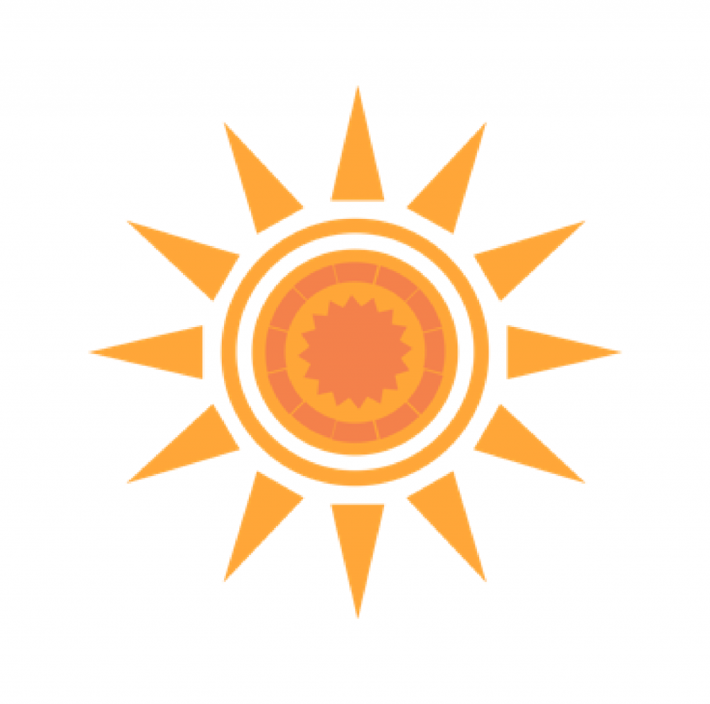 Image of an orange sun