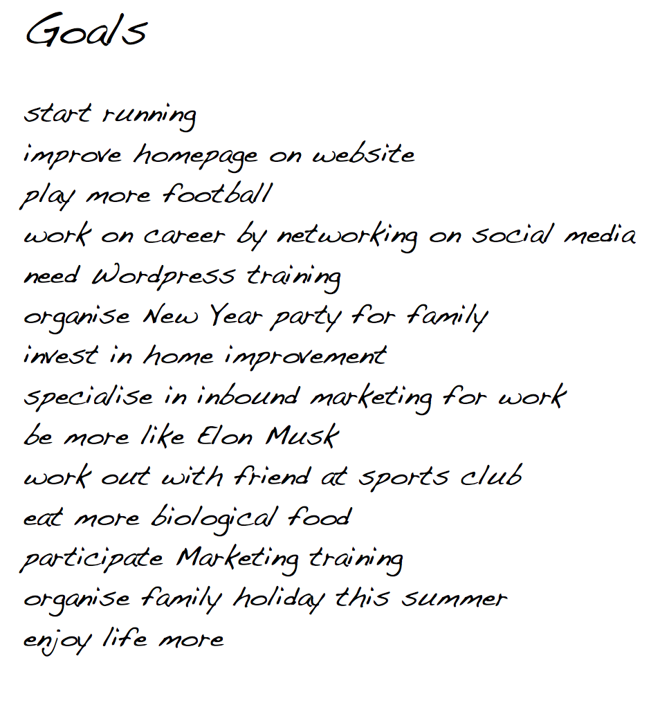 Need help on how to write essay on goal setting