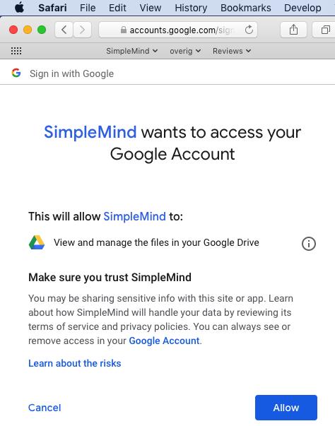 FAQ - SimpleMind