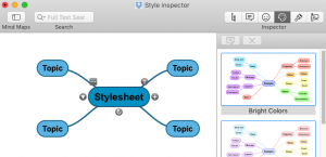 Style sheets are displayed in the inspector panel