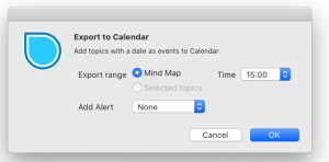 new feature export to calendar