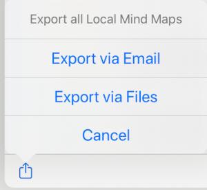 transfer mind maps ipad iphone